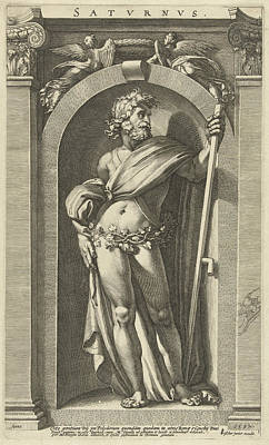 Saturn, Standing In A Niche, A Scythe In His Left Hand Poster by Artokoloro