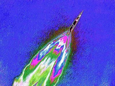 Saturn V Rocket Launch Poster by Detlev Van Ravenswaay