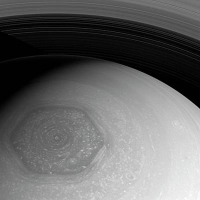 Saturn's Hexagon Poster