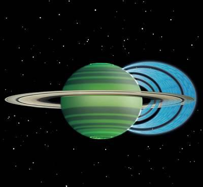 Saturn's Ring 'rain' Poster