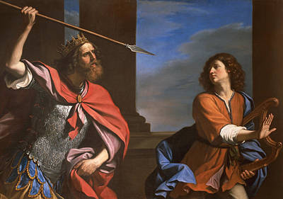 Saul Attacking David Poster by Guercino