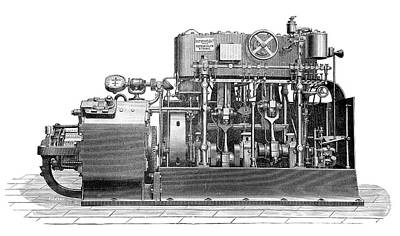 Sautter-harle Engine Poster by Science Photo Library