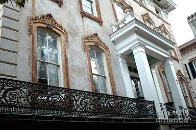 Savannah Georgia Architecture Doors And Windows Poster by Kathy Fornal