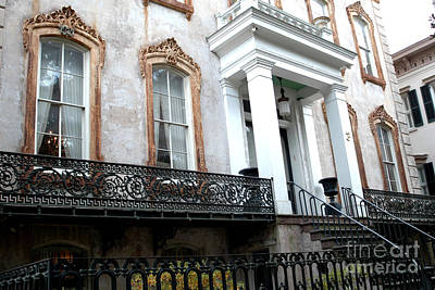 Savannah Georgia Victorian Homes Architecture - Savannah Historial District Poster by Kathy Fornal