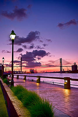 Savannah River Bridge Poster by Renee Sullivan