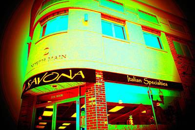 Savona Fine Italian Food And Wine 6 Poster