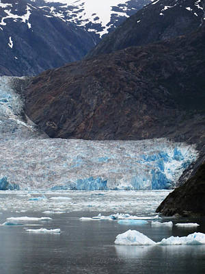 Poster featuring the photograph Sawyer Glacier Blue Ice by Jennifer Wheatley Wolf