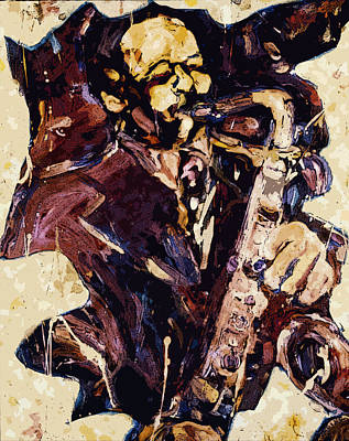 Sax Man One Poster