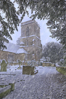 Saxon Church In Winter Poster