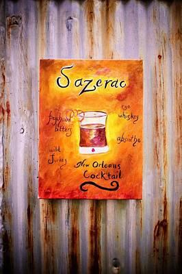 Sazerac On Rust Poster by Marian Hebert