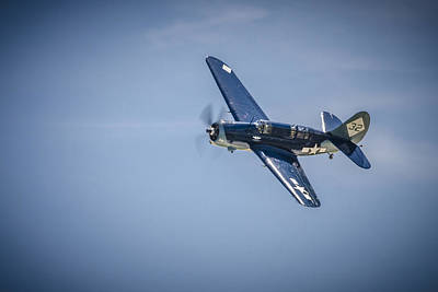 Poster featuring the photograph Sb2c Helldiver by Bradley Clay