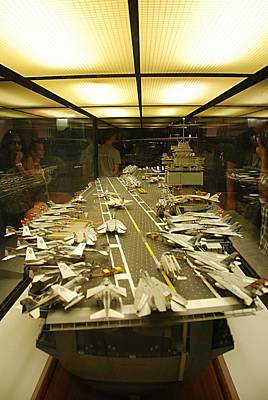 Scale Model Aircraft Carrier Poster
