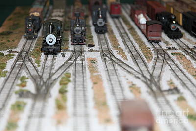 Scale Model Trains 5d21820 Poster by Wingsdomain Art and Photography