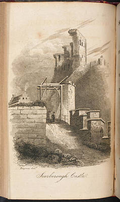 Scarborough Castle From A Guide To The To Poster by British Library