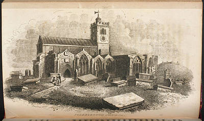 Scarborough Church From A Guide To The To Poster by British Library