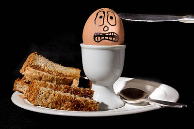 Poster featuring the photograph Scared Egg by Gary Gillette