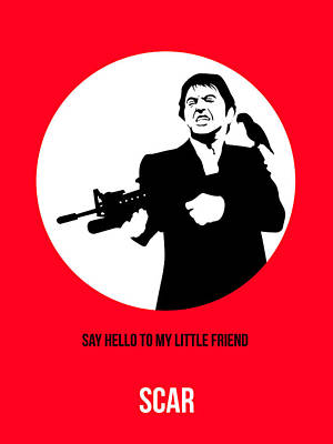 Scarface Poster 2 Poster by Naxart Studio