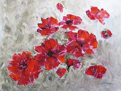 Scarlet Poppies Poster