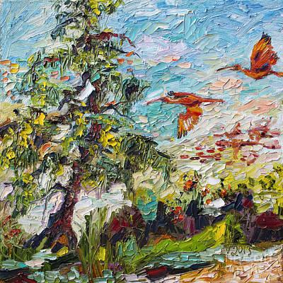 Scarlett Ibis Wildlife Tropical Summer Poster