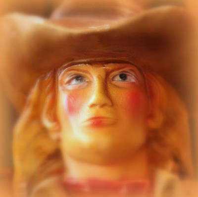Poster featuring the photograph Scary Cowgirl by Lynn Sprowl