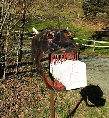 Poster featuring the photograph Scary Mailbox 2 by Sherman Perry