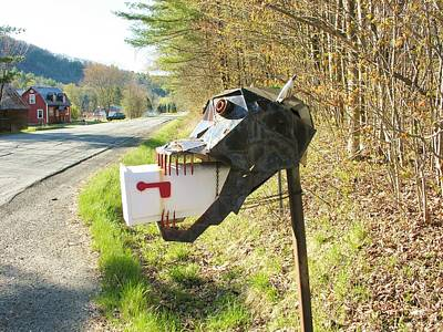 Poster featuring the photograph Scary Mailbox by Sherman Perry