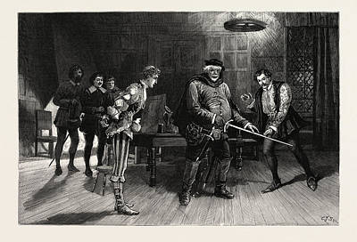 Scene From The Performance Of Henry Iv Poster