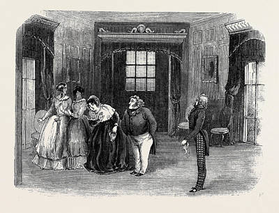 Scene From The Sheriff Of The County Poster by English School