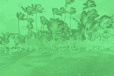 Scene In Green Poster