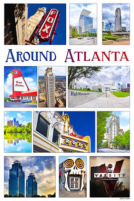 Scenes From Around Atlanta Poster by Mark Tisdale