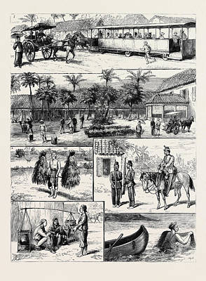 Scenes In Batavia Poster by English School
