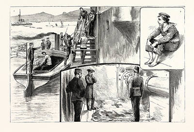 Scenes On Board H.m.s. Anson After The Catastrophe 1 Poster by English School