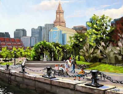 Scenic Boston Poster by Laura Lee Zanghetti