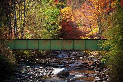 Scenic Bridge Over White River Poster