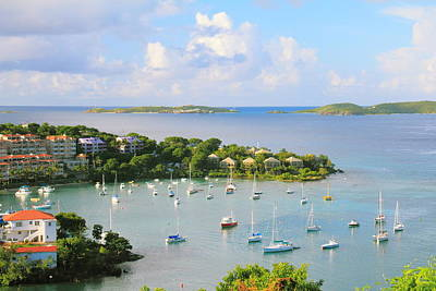 Scenic Overlook Of Cruz Bay St. John Usvi Poster