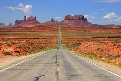 Scenic Road Into Monument Valley Poster by Johnny Adolphson