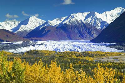 Scenic View Of Matanuska Glacier & Poster by Michael DeYoung