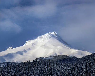 Scenic View Of Snowcapped Mountain, Mt Poster