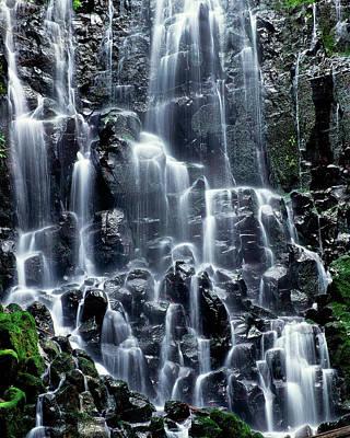 Scenic View Of Waterfall, Ramona Falls Poster