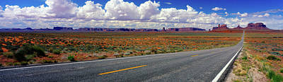 Scenics View Of Road To Monument Poster