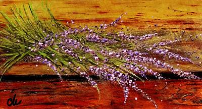 Poster featuring the painting Scent Of Lavender... by Cristina Mihailescu
