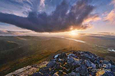 Schiehallion Sunset Poster by Rod McLean