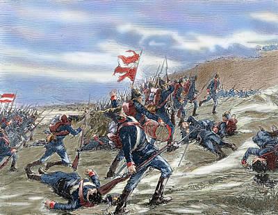 Schleswig-holstein Question. The First Schleswig War Or Three Years War 1848-1851. Fighting Poster by Bridgeman Images