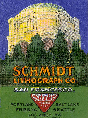 Schmidt Lithograph  Poster by Cathy Anderson