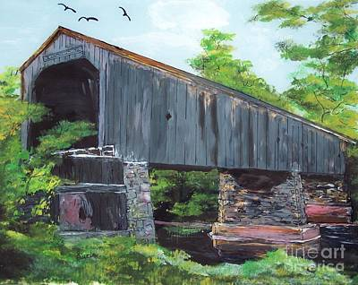 Schofield Covered Bridge Poster by Lucia Grilletto