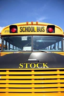 School Bus Poster by Valentino Visentini