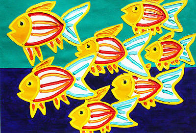School Of Fish Poster by Matthew Brzostoski