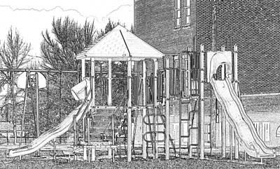 School Playground Slides Poster