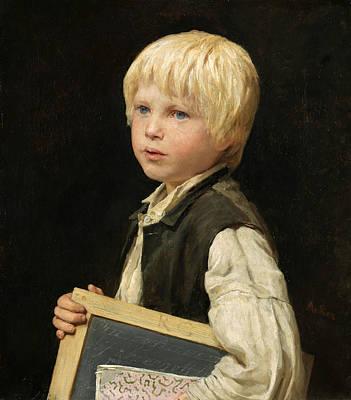 Schoolboy Poster by Albert Anker