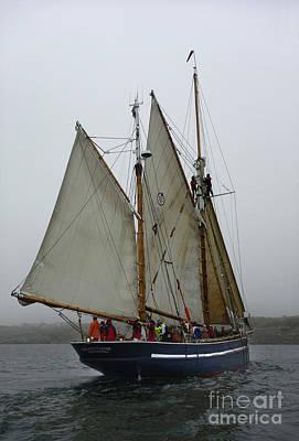 Schooner On Starboard Tack Poster